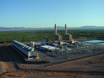 1.Down in the desert. Calpine Corp.'s South Point Energy Center, a 520-MW combined-cycle facility in Arizona, recovered quickly from a crash caused by the failure of a steam-turbine blade. Courtesy: Wood Group