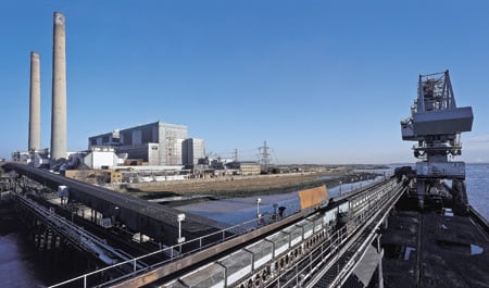 1. Days are numbered. Npower plans to replace this 1,000-MW coal-fired plant in Tilbury, UK, with a new, two-unit, 1,600-MW supercritical coal station. Courtesy: RWE npower