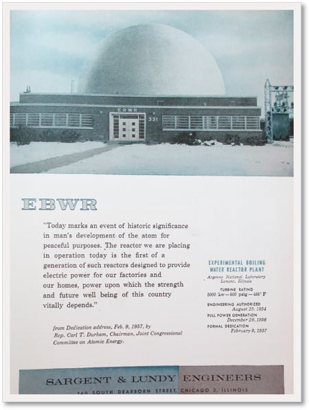 4.The world's first boiling water reactor went commercial in December 1956 at Argonne National Laboratory.