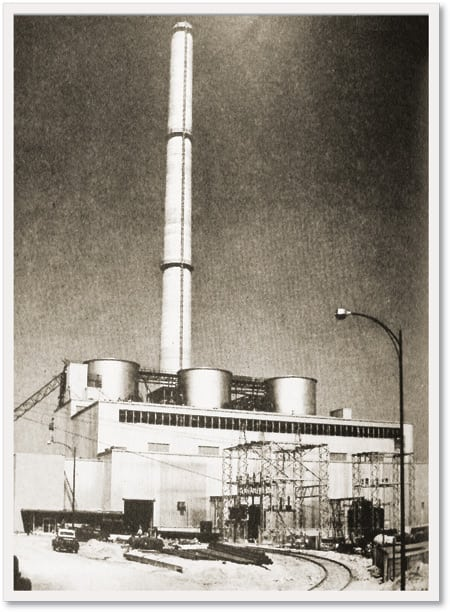 5.The construction of a Delaware Power & Light power plant and the building of a Tidewater Delaware refinery were handled as one project. The plant got fluid coke from the refinery in return for steam and power. Three 500,000-lb/hr boilers powered the first power station to be fueled by fluid coke.