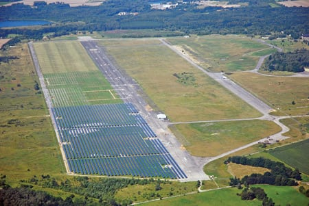 5. Deutschland Über alles. Solarpark Waldpolenz is on track to become the world's largest photovoltaic power plant when it finishes expanding in 2009. The plant is now sending 8.4 MW to the grid. Courtesy: Juwi Group