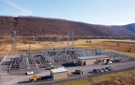 2.	VAR sets record. ABB recently commissioned the world's largest static VAR compensator at Allegheny Power's Black Oak substation. Courtesy: ABB