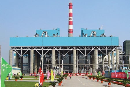 An air-cooled condenser was installed at China's 2 x 300-MW coal-fired Zhangshan Power Plant