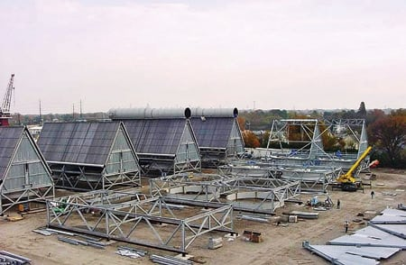 The Astoria Energy project's air-cooled condensers (ACC) were preassembled in Norfolk, Virginia