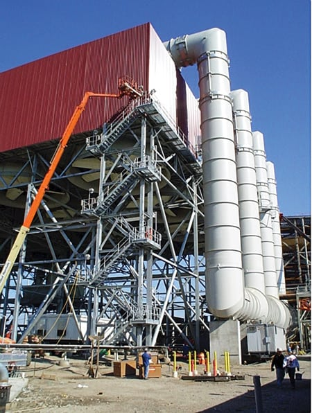 Astoria Energy Project's completed air-cooled condenser is ready for service.