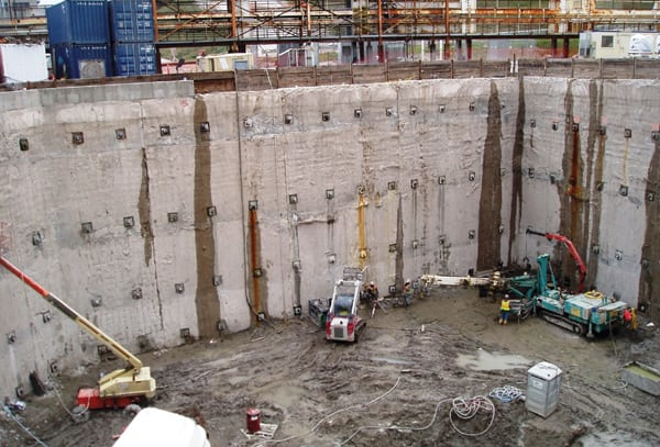 Deep Excavation Support Systems Speed Plant Construction