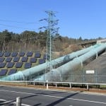 Energy park (solar panels, pumped-storage hydroelectricity) in Geeshacht, Schleswig-Holstein, Germany.