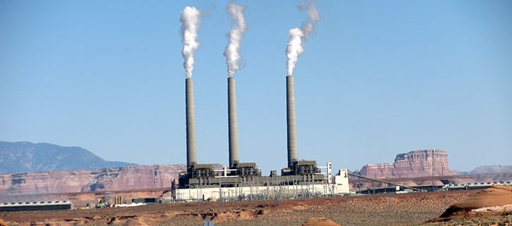 The Navajo Generating Station, near Page, Arizona, serves electric customers in Arizona, Nevada, and California. The station also supplies energy to pump water through the Central Arizona Project. More info: http://www.srpnet.com/about/stations/navajo.aspx