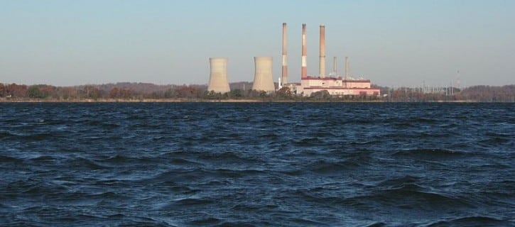 Chalk Point Generating Station located in Maryland on the Patuxent River. Source: Commons