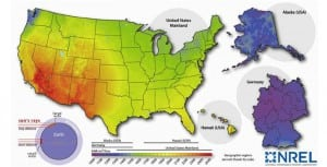 1.Where the sun does and doesn't shine. Source: National Renewal Energy Laboratory