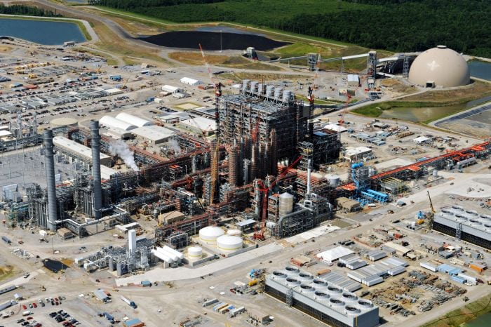 An aerial of the Kemper Co. energy facility taken in July 2014. Courtesy: Mississippi Power