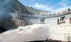 5. SHP centers have flourished. Longshou hydropower station is located in Zhangye SHP base of Gansu Province in China. Taking the advantage of abundant water resources in Heihe Mainstream, there are eight SHP projects with a total installed capacity of more than 1 GW in Zhangye. Courtesy: Baidu Inc.