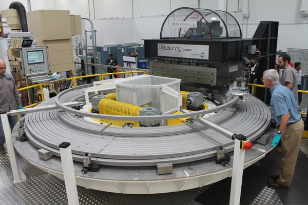 Workers at General Atomics in San Diego begin the process of winding the superconducting modules that will form the central solenoid of the ITER fusion reactor. Source: POWER/Tom Overton