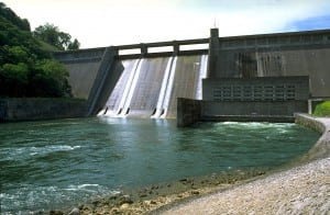 2.First out of the gate. Norris Dam on the Clinch River was the first dam built by the Tennessee Valley Authority and was completed in 1936. It provides both flood control and power from two Francis turbines rated at a total 132 MW. Courtesy: TVA