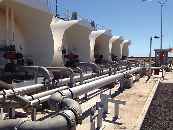 Grooved mechanical piping was used on several water, air, and diesel fuel systems at the South Hedland Power Station in Western Australia