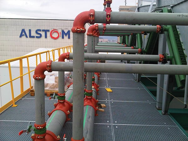 Alstom installed grooved mechanical piping at a facility in Switzerland, cutting installation time in half compared to welding.