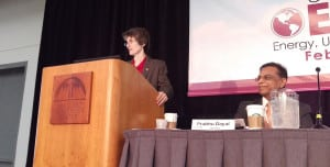 Janet McCabe, the Environmental Protection Agency's acting administrator of the Office of Air and Radiation, speaking at the 2016 EUEC conference in San Diego, February 3. Source: POWER/Thomas W. Overton