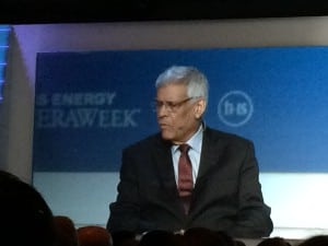 OPEC Secretary General HE Abdalla Salem El-Badri, speaking at the 2016 IHS CERAWeek conference in Houston. Courtesy: POWER