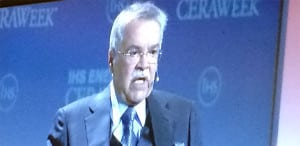 HE Ali Al-Naimi, the minister of petroleum and mineral resources for the Kingdom of Saudi Arabia, spoke on February 23 at the 2016 IHS CERAWeek. Though the kingdom is known for its fossil fuel exports, he anticipates a day when it will export solar power. Courtesy: POWER
