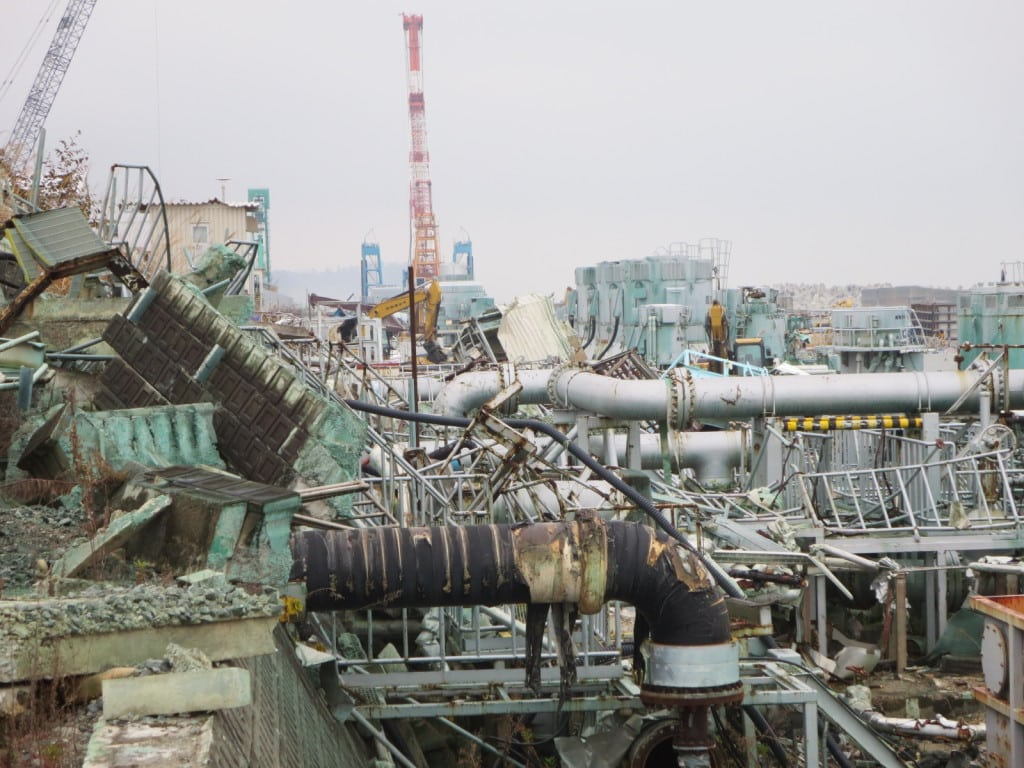 A scene at Tokyo Electric Power Co.'s damaged Fukushima Daiichi power plant months after the earthquake and tsunami in 2011. Courtesy: TEPCO