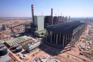 On Aug. 30, 2015, South African utility Eskom inaugurated the first 780-MW unit of the 4.8-GW Medupi power station under construction in the country's coal-rich Limpopo region. Construction on the project began in 2007, but the plant will not be fully completed until 2019. Courtesy: Leita Steel Construction