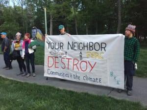 BXE protests at FERC's Tony Clark's house
