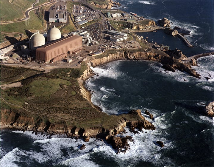 Located in San Luis Obispo County, Calif., opponents of the 2,240-MW Diablo Canyon facility have long pointed to seismic concerns as a reason that the plant should be closed. Pacific Gas and Electric (PG&E) announced on June 21, 2016, that it would not seek license extensions for the units, which entered commercial operations May 7, 1985, and March 13, 1986, respectively, and would instead focus on increasing renewable generation. As such, Unit 1 will retire when its current license expires on Nov. 2, 2024, with Unit 2 following on Aug. 26, 2025. Courtesy: PG&E