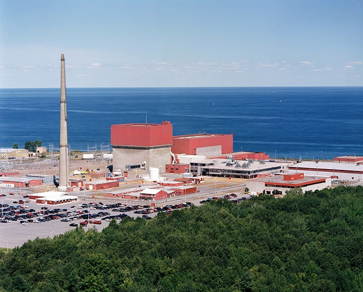 Another casualty of economics, Entergy announced on Nov. 2, 2015, that it would close the 838-MW FitzPatrick plant at the end of its current fuel cycle, expected by January 2017. The Oswego, N.Y.–station began commercial operation July 28, 1975. Courtesy: Entergy Nuclear