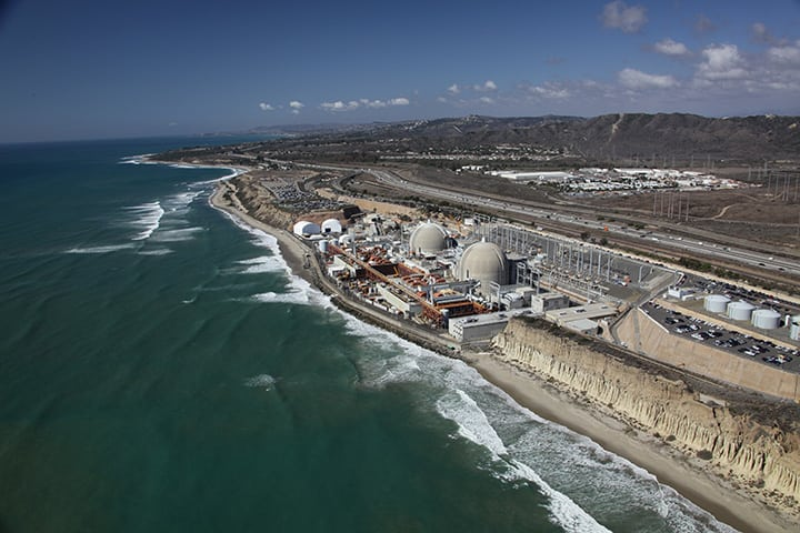 San Onofre Units 2 and 3 were shutdown in January 2012 when leaks were discovered in both units' recently replaced steam generators. After considerable evaluation, Southern California Edison announced on June 7, 2013, that the 2,150-MW facility would be retired. The plant is located in San Diego County, Calif. Unit 2 began commercial operation Aug. 8, 1983, while Unit 3 followed on April 1, 1984. Courtesy: Southern California Edison