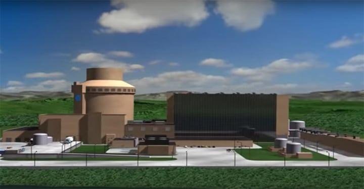 AP1000 nuclear plant model Courtesy: Westinghouse
