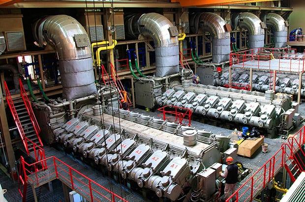 "Engine room of Karadeniz Powership ""Fatmagul Sultan"""