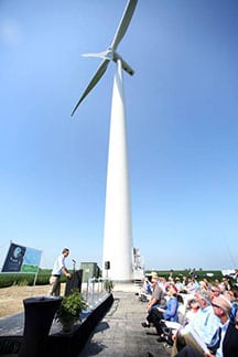 Grand Opening Dedication Ceremony at Amazon Wind Farm Fowler Ridge