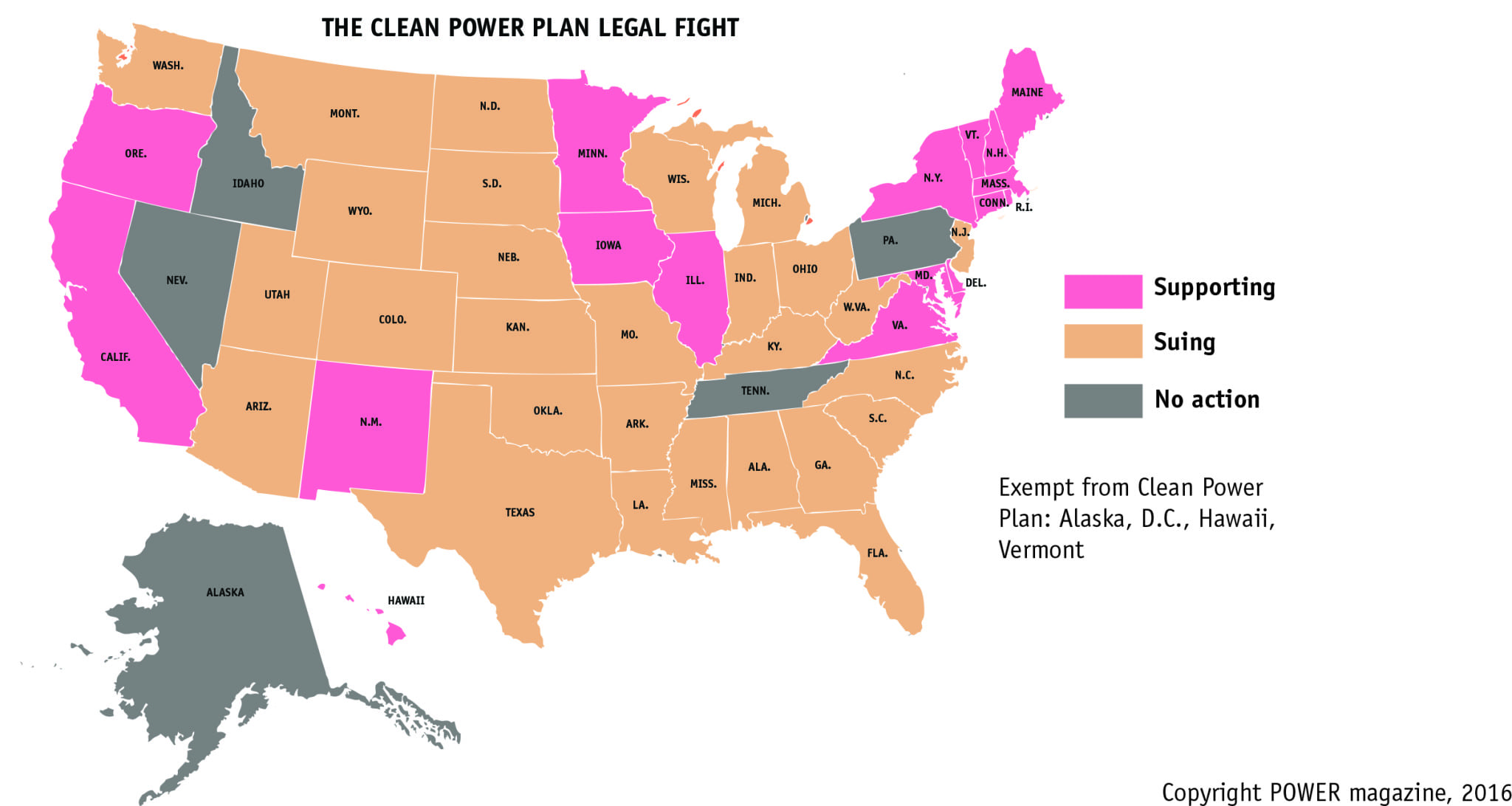 Fight To Keep Epas Clean Power Plan Alive Intensifies In Federal Map Of Us Federal