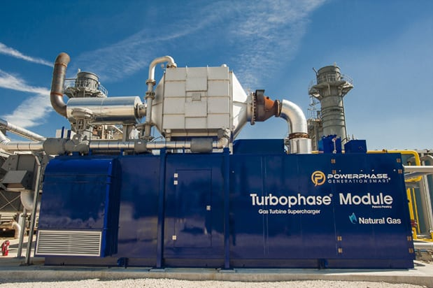 Turbophase Module at a power plant (PRNewsFoto/Powerphase)