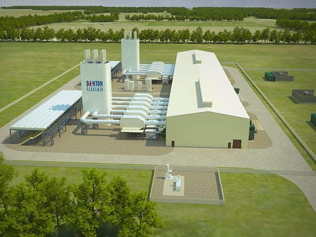 Artist illustration of the coming plant, Source: Denton Municipal Electric
