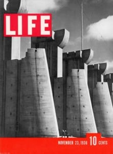 Fort Peck Dam on Life's first cover