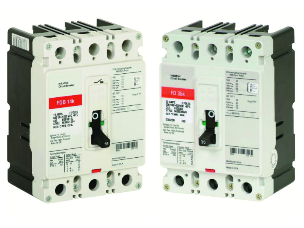 2.Real or fake? Counterfeiters do their best to disguise non-genuine products. In this image, the circuit breaker on the left is genuine while the one on the right is counterfeit. Courtesy: Eaton