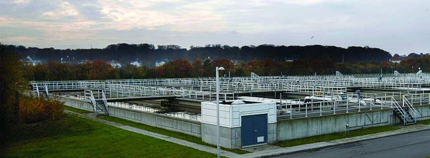 3.Energy-positive wastewater plant. In 2015, the Marselisborg Wastewater Treatment Plant, which serves Denmark's second-largest municipality of Aarhus, had a total energy production of 9,628 MWh per year and an energy consumption of 6,311 MWh per year, which is equivalent to a net energy production of 153%. Courtesy: Aarhus Water