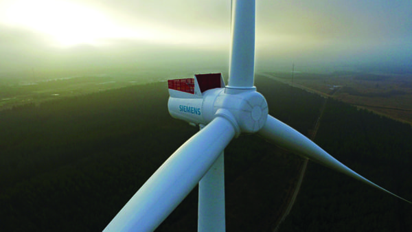 4.Ivory tower. Siemens' 8-MW offshore wind turbine prototype installed at a test center in Østerild, Denmark, will be used for both mechanical and electrical testing until type certification next year. Courtesy: Siemens