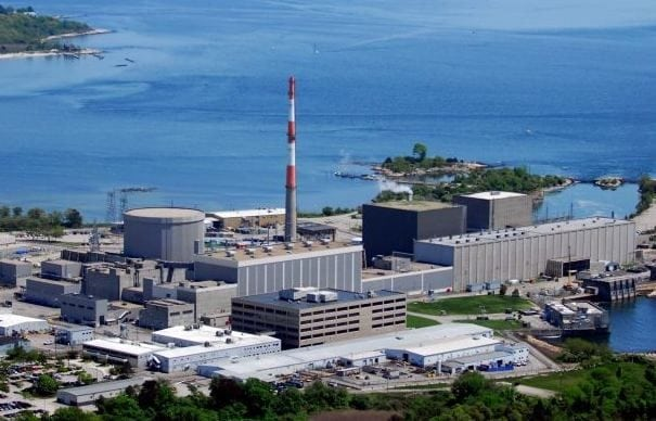 <strong>Connecticut</strong>. On March 21, meanwhile, Connecticut's General Assembly energy and technology committee voted 17–7 to approve SB 106, legislation that would establish ZECs for its only nuclear power plant, Dominion Energy's Millstone nuclear station in Waterford. Dominion, which notes that the nuclear plant accounts for 59% of power consumed by the state's utility customers, says the bill would give it the ability to compete with plants fueled by cheap, plentiful natural gas. The vote means the full Connecticut state House of Representatives and Senate will now hear the bill. <br> <br> <em>Millstone Unit 2 nuclear power plant in Connecticut. Courtesy: Dominion </em>