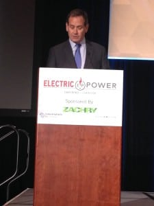Bryan Hanson, president and chief nuclear officer for Exelon Generation, gave the keynote speech at the ELECTRIC POWER Conference and Exhibition in Chicago on April 11. Source: POWER