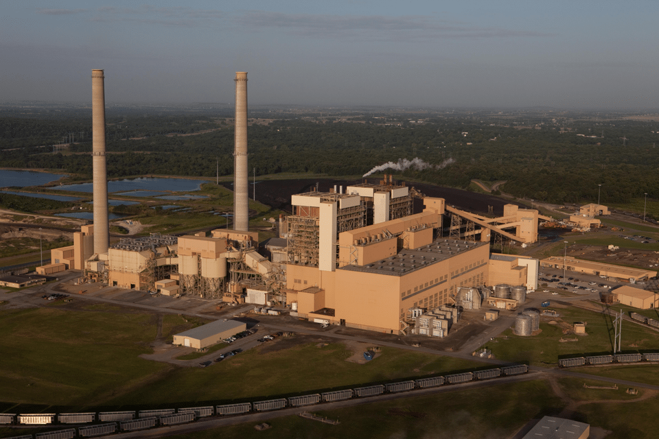 The Grand River Energy Center (GREC), owned by Oklahoma's state-owned electric utility Grand River Dam Authority, is located in Chouteau, Okla. It comprises two coal-fired units: the 490-MW Unit 1 and the 520-MW Unit 2. A 495-MW gas-fired unit is under construction at the site. It will feature the nation's first installed Mitsubishi Hitachi Power Systems Americas M501J-series engine. Courtesy: GRDA
