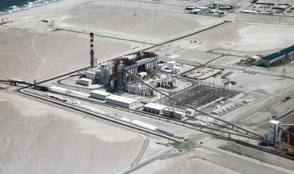 "<strong>2012—<a href=""https://www.powermag.com/plant-of-the-yearaes-geners-angamos-power-plant-earns-powers-highest-honor/"">AES Gener's Angamos Power Plant</a></strong> <br><br> AES Gener recently completed construction of twin coal-fired, 260-MW units in the electricity-starved desert of northern Chile that may serve as models for future hybrid-fossil plant designs. For meeting an aggressive construction schedule, integrating a 20-MW battery energy storage system, embracing desalination, using the first-of-its-kind seawater cooling tower in South America, and employing innovative financing methods, the AES Gener Angamos plant has earned POWER's 2012 Plant of the Year Award."