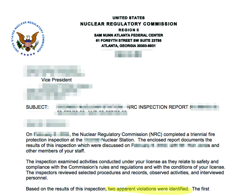 Fig 4_OPSEC Violation Sensitive Nuclear Regulatory Comission Report