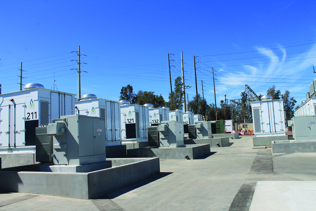 SGD&E's 30-MW, 120-MWh system unveiled in February 2017 in Escondido, California,  was supplied by AES Energy Storage. The facility was part of an expedited response by the state and the California Public Utilities Commission to the loss of the Aliso Canyon natural gas storage facility north of Los Angeles in 2016. Source: POWER/Tom Overton