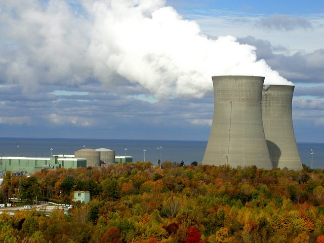 The Perry Nuclear Generating Station on Lake Erie, northeast of Cleveland, Ohio, is among the FirstEnergy plants struggling financially.