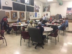 Staff members from City Utilities in Springfield, Missouri, gather Sept. 6 for a meeting before taking off to Florida to help potential recovery efforts from Hurricane Irma. Courtesy: City Utilities