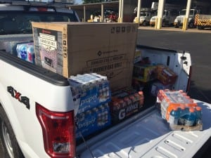 A truck from City Utilities in Springfield, Missouri, is loaded with supplies before leaving for Florida on Sept. 6. Courtesy: City Utilities