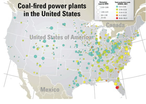 <strong>2000s:</strong> <br><br> Since 2006, POWER's print and digital products have been bolstered by an assortment of multimedia, including infographics, podcasts, video, slideshows, and maps—such as this one from October 2008, which shows coal-fired power plants in the U.S. by capacity and total production costs. Along with this map, the global power landscape has significantly transformed within the past 10 years. For more, stay informed with a subscription to POWER, sign up for its newsletters, POWERnews, COAL POWER Direct, and GAS POWER Direct, or dive into POWER's archives, which are available at: https://www.powermag.com/publications/.