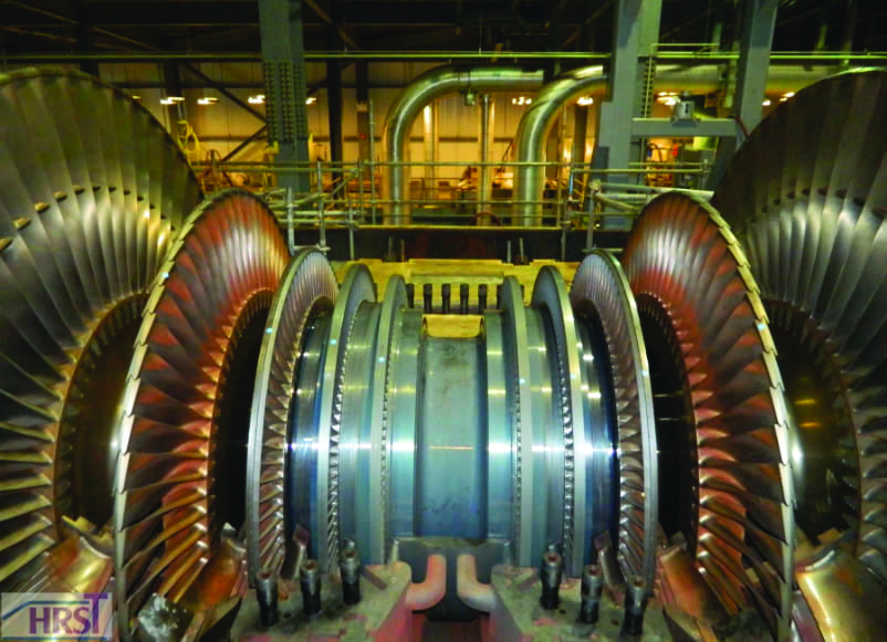 Fig 6_LP Rotor Upper Half Casing Removed